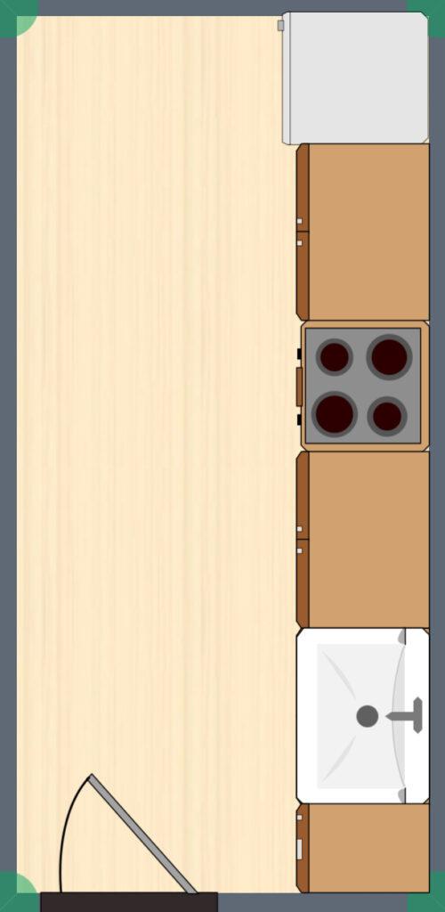one wall kitchen design layout
